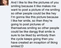 """This will be my comment if your caption says """"I like to smile"""". pic.twitter.com/xnXxX04fyU"""