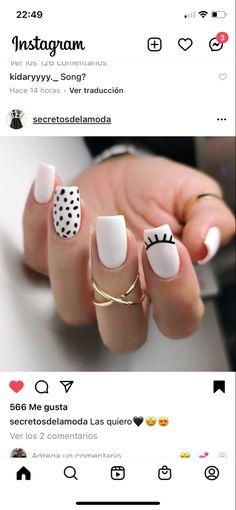 Acrylic Nail Shapes, Acrylic Nails, Cute Nails, Nail Desings, Nail Polish, Nail Art, Beauty Stuff, Tattoos, Makeup