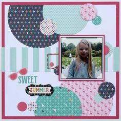 Scrapbooking Layout | Based on a Sketch | Featuring Echo Park Summer Dreams Collection | 12X12 Layout | Creative Scrapbooker Magazine #scrapbooking #basedonasketch #echopark
