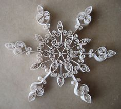 Quilled Paper Snowflake TUTORIAL video Quilling snaigė