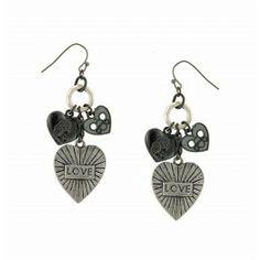1928 Jewelry Heart Charm Earrings www.Silverhooks.com