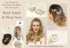 Top Ten Tips for Choosing the Perfect Bridal Hair Accessories by Hair Comes the Bride