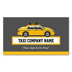 Licensed Cap Driver Chauffeur - Yellow Taxi Business Card Templates