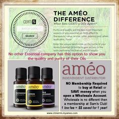 Améo Essential Oils: see the difference here. Learn more or purchase at www.ctmerrin.myameo.com