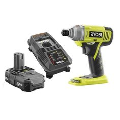 Ryobi ZRP1870 ONE+ 18-Volt Lithium-Ion 1/4 in. Cordless Impact Driver Kit (Certified Refurbished). This Certified Refurbished product is tested & certified by Ryobi to look and work like-new. The product includes all original accessories, and is backed by a 1 Year warranty. Includes an 18-Volt Battery and Charger. 1/4 in. Quick connect coupler for quick and easy bit changes. On-board bit storage for convenience. Cast aluminium gear housing for strength and durability.