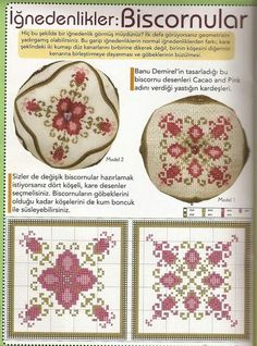 Tutorial for Biscornu (Part find the pattern! Biscornu Cross Stitch, Counted Cross Stitch Patterns, Cross Stitch Charts, Cross Stitch Designs, Embroidery 3d, Cross Stitch Embroidery, Blackwork, Cross Stitch Cushion, Cross Stitch Flowers