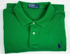 POLO RALPH LAUREN MENS XL GREEN PONY LOGO SHORT SLEEVE POLO RUGBY SHIRT  #PoloRalphLauren #PoloRugby