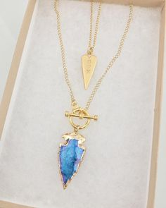 Two of our most wanted: Love Spike Necklace & Bioluminescence Arrowhead  By Long Lost Jewelry