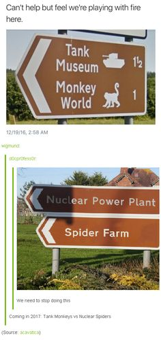 """Coming in 2017: Tank Monkeys vs Nuclear Spiders"" 