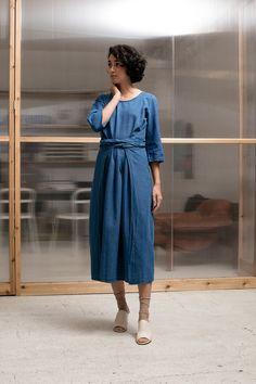 Caron Callahan Hester Dress - indigo