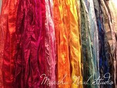 Silk Ribbon - Hand Painted Silk - Silky Ribbon - Fairy Ribbon - Jewelry Supplies - Wrap Bracelet - Craft Supplies - You Pick the Colors Jewelry Supplies, Craft Supplies, Ribbon Jewelry, Diy Jewelry, Jewelry Making, Bracelet Crafts, Ceramic Clay, Silk Painting, Silk Ribbon