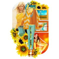 """""""Sunflowers"""" by ladysnape on Polyvore"""