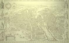 Paris in 1618 antique reproduction