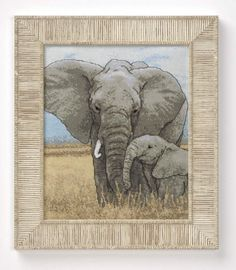 Elephant mother & baby
