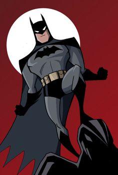 Batman illustration Batman: animated series style by Luciano Vecchio Batman Cartoon, Im Batman, Batman Art, Batman Robin, Catwoman, Batgirl, Batman The Dark Knight, Illustration Batman, Batman Kunst