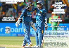 ICC WORLD cUP 2015:  Bangladesh v Sri Lanka, World Cup 2015, Group A, Melbourne, February 26, 2015  Dilshan, Sangakkara tons set up big win