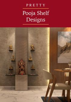Check out our diverse collection of pooja shelf designs that can instantly transform dull walls into a divine space you would love going back to. Temple Design For Home, Home Room Design, Design Your Home, Living Room Designs, Small House Interior Design, House Design, Mandir Design, Pooja Mandir, Pooja Room Door Design