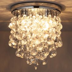 Buy John Lewis Katelyn Crystal Bathroom Flush Ceiling Light Online at johnlewis.com