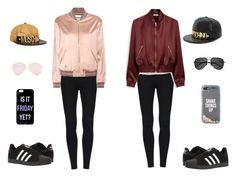 """""""bff's"""" by twix-dxciv ❤ liked on Polyvore featuring Yves Saint Laurent, Mulberry, adidas, Kate Spade and Moschino"""