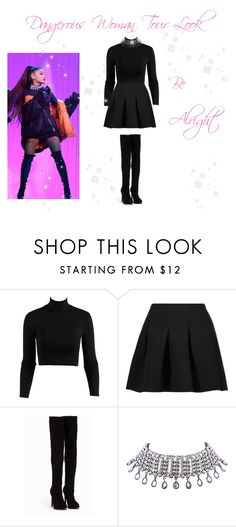 """♡ Ariana Grande Dangerous Woman Tour Look: Be Alright ♡"" by kaylalovesowls ❤ liked on Polyvore featuring T By Alexander Wang, Nly Shoes and WithChic"