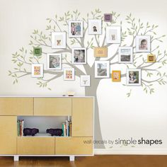 Family Tree Decal Family Tree Wall Decal Two by SimpleShapes
