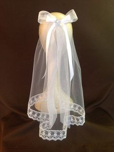 communion veils | EMILY White First Communion Veil by ToteCoutureByAngela on Etsy