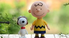 Snoopy and Charlie Brown action figure