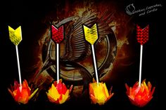 The Hunger Games: Catching Fire - Flaming Arrow Cake Pops from Cookies Cupcakes and Cardio Hunger Games Cake, Hunger Games Party, Cake Pops Image, Cookies Cupcakes And Cardio, Fire Cake, Arrow Of Lights, Cake Pop Tutorial, Cookie Pictures, Cake Decorating Tutorials