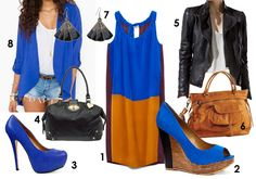 love blue and camel tones