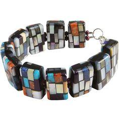 Charlene Reano Reversible Mosaic Link Bracelet