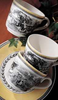 I love this china.Audun Chasse - Country - Dinnerware - Tavola Villeroy & Boch Note: My china pattern started many years ago. Country Chic, Country Living, French Country, Caramel Color, Chocolate Coffee, China Patterns, Fine China, Teacups, Afternoon Tea