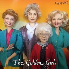 FINISHED! The Golden Girls dolls made by Cyguy dolls |   #thegoldengirls #cyguy83 #cyguy #cyguydolls Girl Dolls, Barbie Dolls, Dolls Dolls, Pretty Dolls, Beautiful Dolls, Barbie Happy Family, Betty White, Barbie Collector, Golden Girls