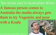you know you're australian when... Like Oprah haha #vegemite #koala