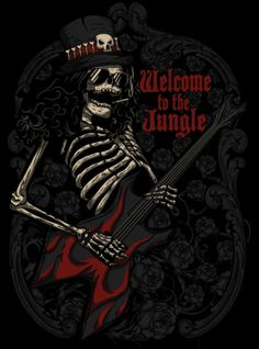 WELCOME TO THE JUNGLE by Negro Mate, via Behance ~GUNS N' ROSES
