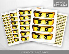 INSTANT DOWNLOAD Ninjago Augen 5 Größen Banner von Inulja auf Etsy