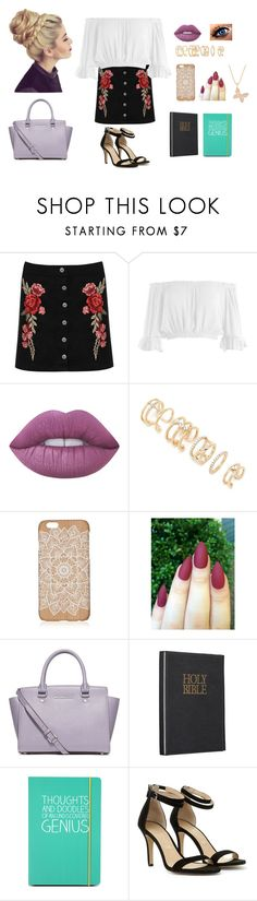 """Church Service"" by shagurl ❤ liked on Polyvore featuring WearAll, Sans Souci, Lime Crime, Forever 21, MICHAEL Michael Kors, Happy Jackson, Mint Velvet and Sydney Evan"