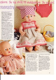 Billede: Knitting Dolls Clothes, Crochet Baby Clothes, Knitted Dolls, Doll Clothes Patterns, Doll Patterns, Ag Dolls, Reborn Dolls, Girl Dolls, Baby Born Clothes