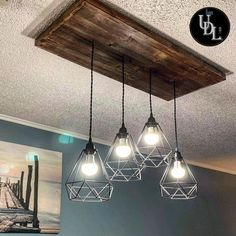 Rustic Ceiling Light Chandelier with Diamond Metal Cage for more details check out our Etsy Store Urban Design Lights Farmhouse Chandelier, Rustic Chandelier, Farmhouse Lighting, Chandelier Lighting, Vanity Light Fixtures, Ceiling Light Fixtures, Vanity Lighting, Ceiling Lights, Cage Light