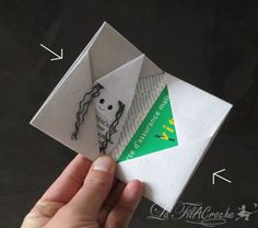 Porte cartes en origami