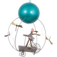 Le mobile décoratif Schlumélémentaire L'enfant et l'avion par L'oiseau bateau apporte un décor poétique à la chambre d'un enfant. Mobile Musical, Baby Deco, Kidsroom, Decoration, Ferris Wheel, Fair Grounds, Image, Mobiles, Design
