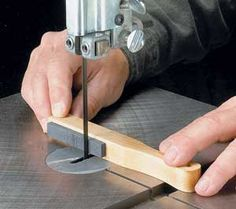 """Workbench Tip: Smoother Cuts with Band Saw Blades. Round the back edge with a """"tuning"""" stone. With a rounded back, there aren't any sharp corners to get hung up on. Plus, it decreases wear on the blade."""