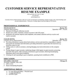Customer Service Representative Resume Sample   Career
