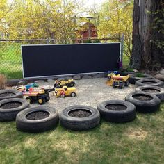 48 Popular Backyard Playground Landscaping Ideas For Kids - Today's backyard playgrounds are veritable works of art. Long gone are the days of the metal swing set that flipped up when you swung too high. Well-d. Preschool Playground, Preschool Garden, Backyard Playground, Backyard For Kids, Playground Ideas, Backyard Ideas, Outdoor Fun For Kids, Backyard Games, Pool Ideas
