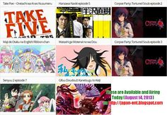 Anime and Dorama Airing Today (August 14, 2013) on our blog.. visit http://japan-ent.blogspot.com/