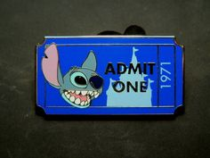 ADMIT ONE TICKET 1971 PWP Disney Pin Stitch From MICKEYS CIRCUS 2012  Disney Collectible Pin - $2.99