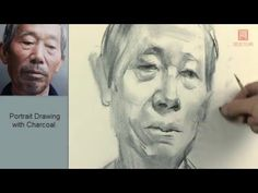 Portrait Drawing with charcoal - YouTube