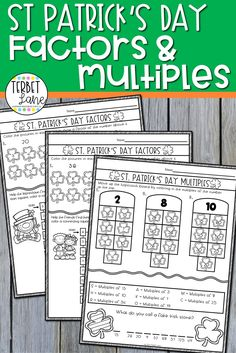 St Patrick's Day themed math pages are a great way to bring the fun of the season into your classroom without sacrificing precious instruction time. This set of St Patrick's factors and multiples activities pages are fun and engaging while giving students valuable practice finding factors and multiples. Fun Writing Prompts, Cool Writing, Finding Factors, Factors And Multiples, Math Pages, States And Capitals, Day Up, St Patricks Day, Worksheets
