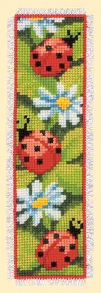 M�rcapaginas: Flores y mariquitas de Vervaco - Marcadores - Kits Bordado - Casa Cenina