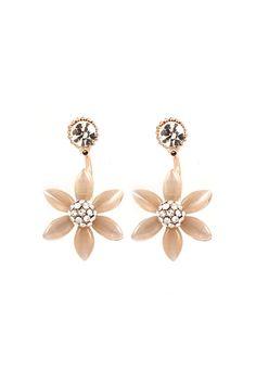 Lucite Blossom Earrings//