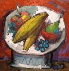 Bodegón de plátanos - Alvaro Reja // Arteblanco.com Craft Projects, Arts And Crafts, Painting, Shopping, Portrait, Still Life, Contemporary Art, Pintura, Dancing Girls